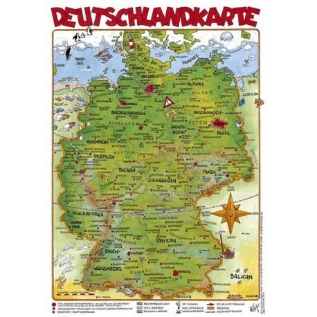 Cartoonlandkarte: Deutschland