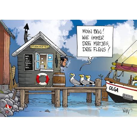 Postkarte Fischhütte 2