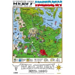 Heavy Holzbein Postkarte (Wacken Open Air) DIN A6
